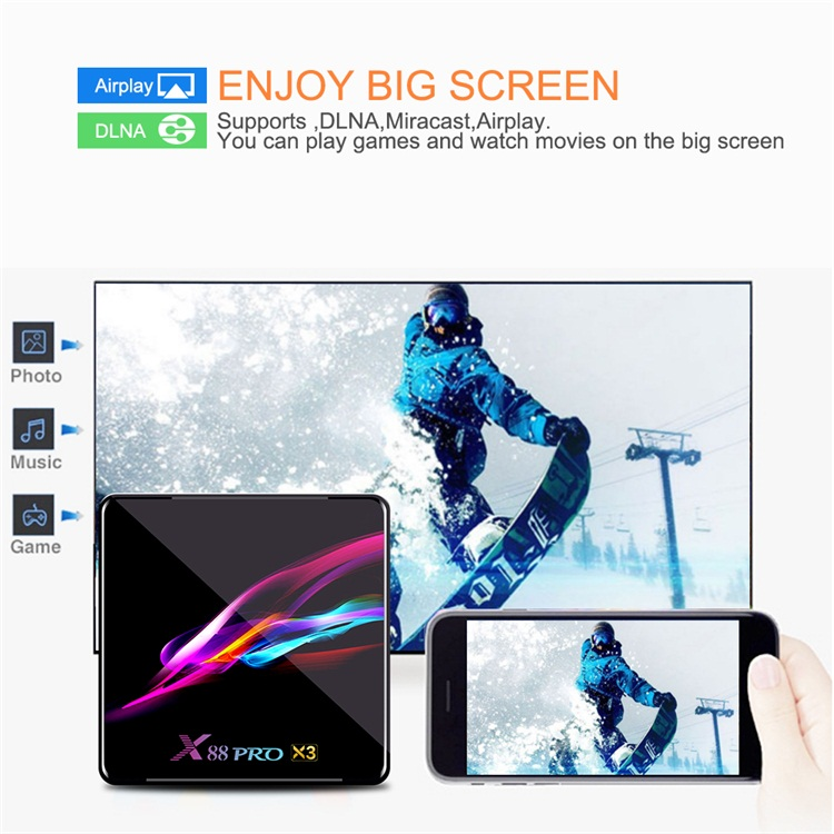 New Design Topleo X88 Pro X3 dual wifi 4gb ram 32gb rom 9.0 amlogic android tv box s905x3