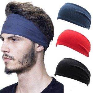 Mens Women Sweat Sweatband Headband Yoga Gym Running Stretch Sports Head Band