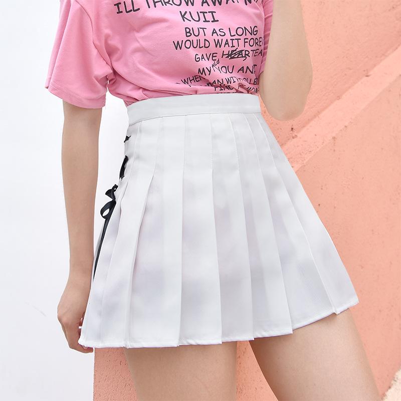 Atacado de moda verão plus size saia plissada mulheres saia curta mini saia sexy