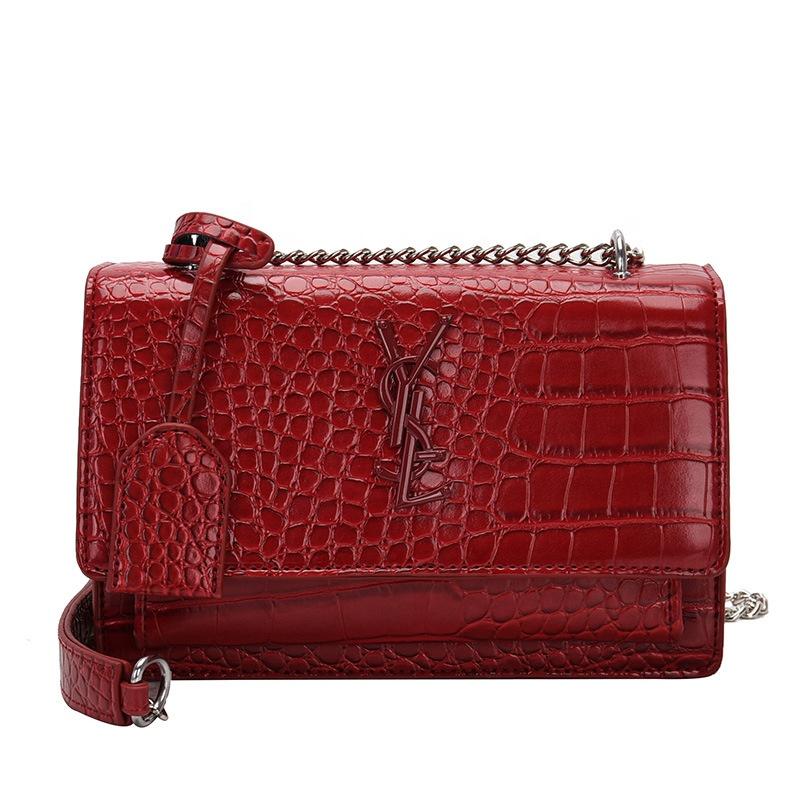 Venta al por mayor bolsos coreanos rojo Compre online los