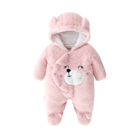 hot sale baby girl romper suits winter long warm sleeve girls baby clothes cartoon clothing