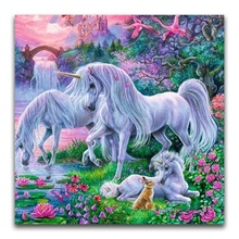Pintura Diamante DIY 5D para Unicorn Pony Resina do <span class=keywords><strong>Ponto</strong></span> da <span class=keywords><strong>Cruz</strong></span>