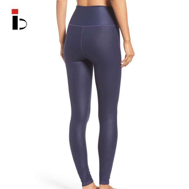Sexy bodybuilding navy blue workout women yoga leggings