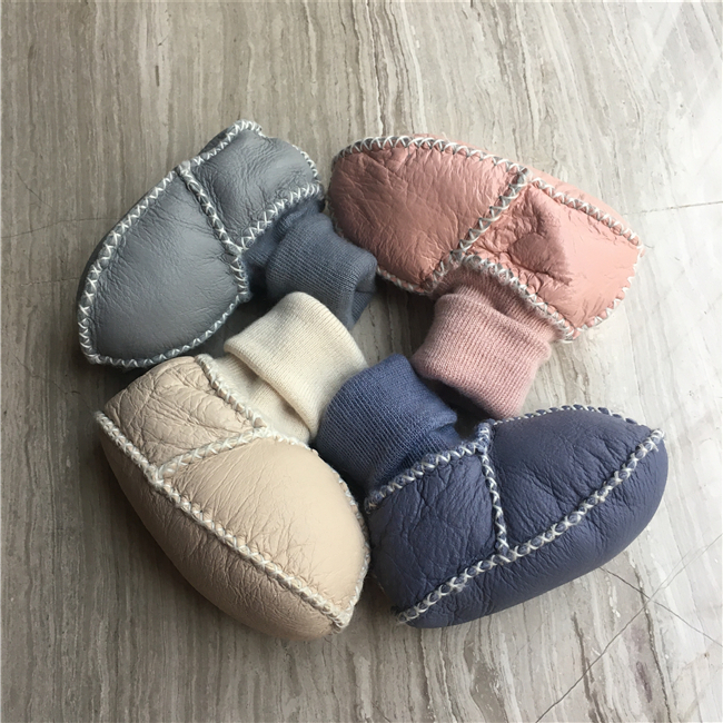 Sheepskin Baby Booties - Shearling Lined Baby shoes