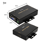 HDMI Converter 1920x1080 with 3.5mm Audio Sound HDMI to VGA Converter for PC Laptop Display Computer