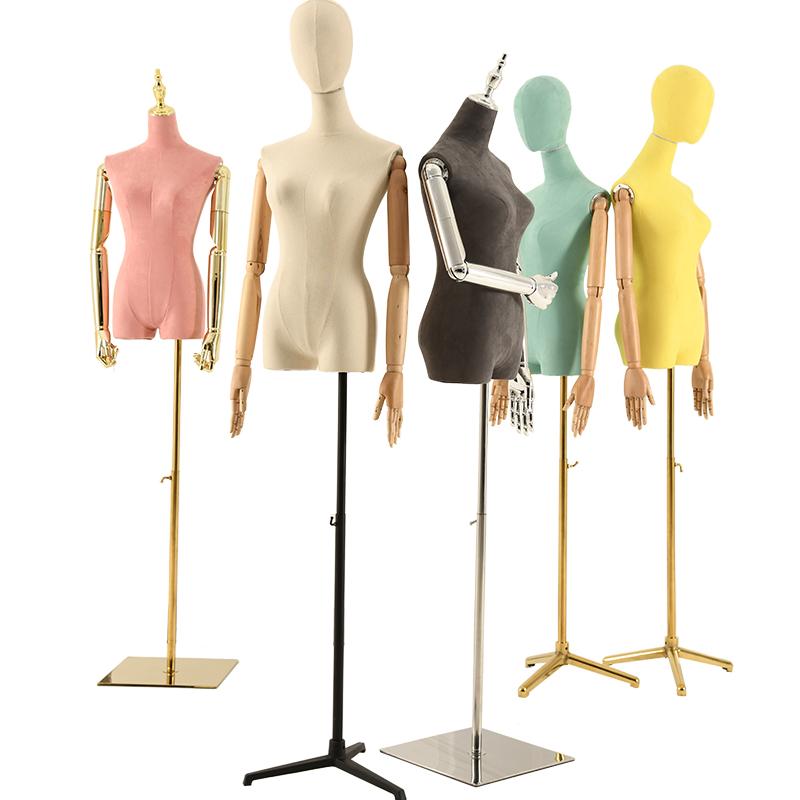 여성 모델 의류 매장 디스플레이 선반 전신 더미 창 옷 디스플레이 유럽 스타일