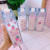 Feiyou cheap cute 500ml custom square plastic flamingo printing clear milk carton drinking water bottle for girls