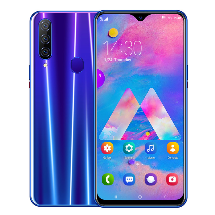2019 حديثا M30 برو الهاتف الذكي MTK6761 رباعية النواة الروبوت 9.0 4080mAh الهاتف المحمول 3GB + 16GB Waterdrop شاشة ID الوجه 4G الهاتف المحمول