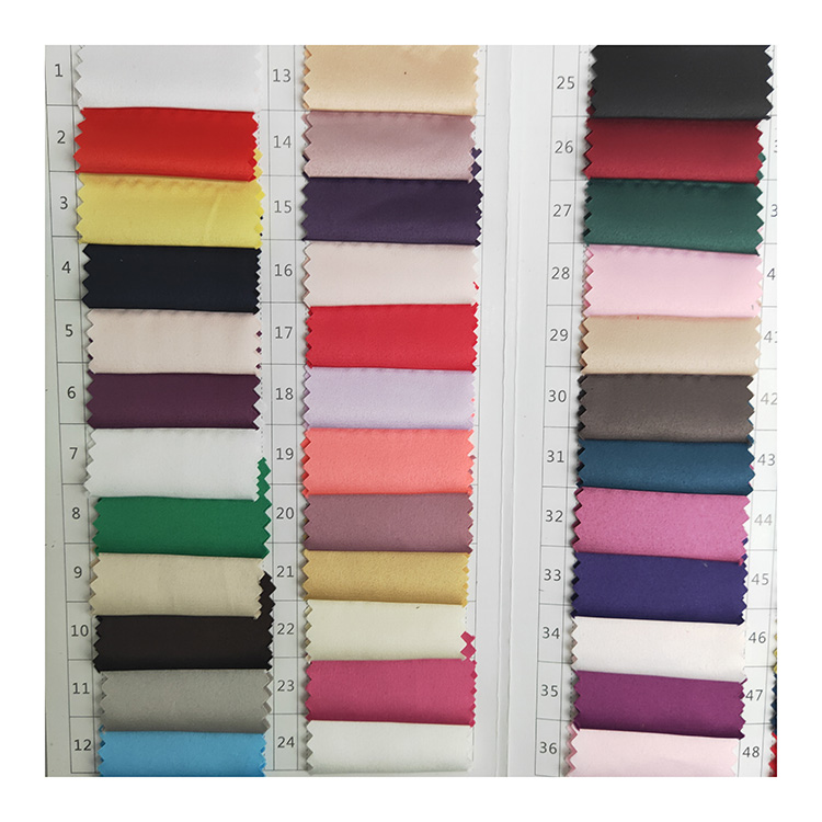Ready Woven Mat Plain Dyed Matte Spandex Polyester Satin Fabric for Dress