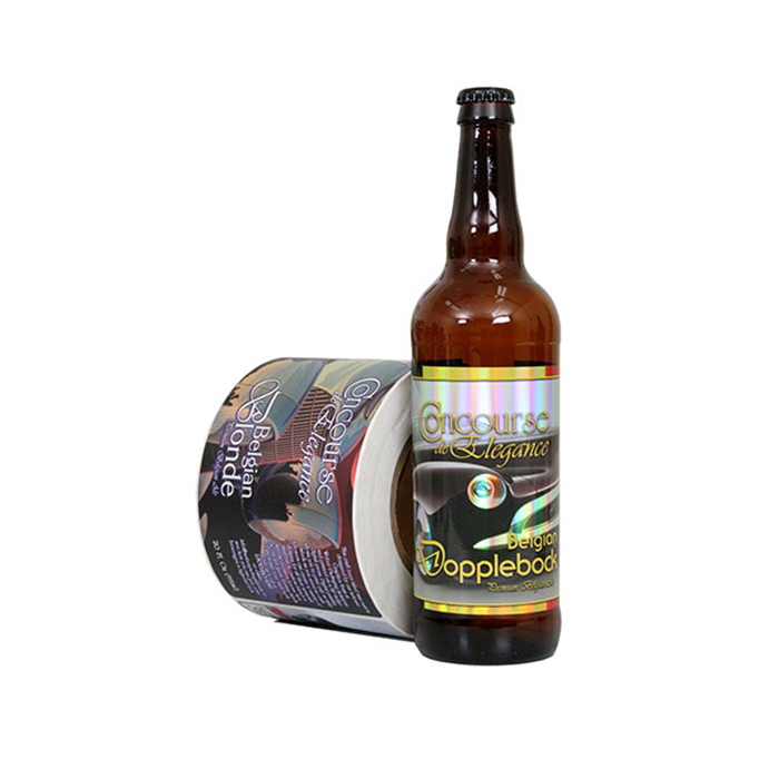 custom waterproof beer bottle label printing etiquetas textured paper material sticker for glass wine bottle