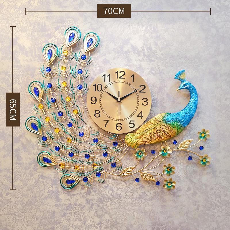 High Quality Sitting Room Wall Clock Wall Sticker Clock Luxury Wall Art Saat