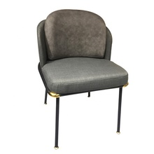ergonomic luxury commercial gray dining chair modern velvet fabric furniture dining room chair