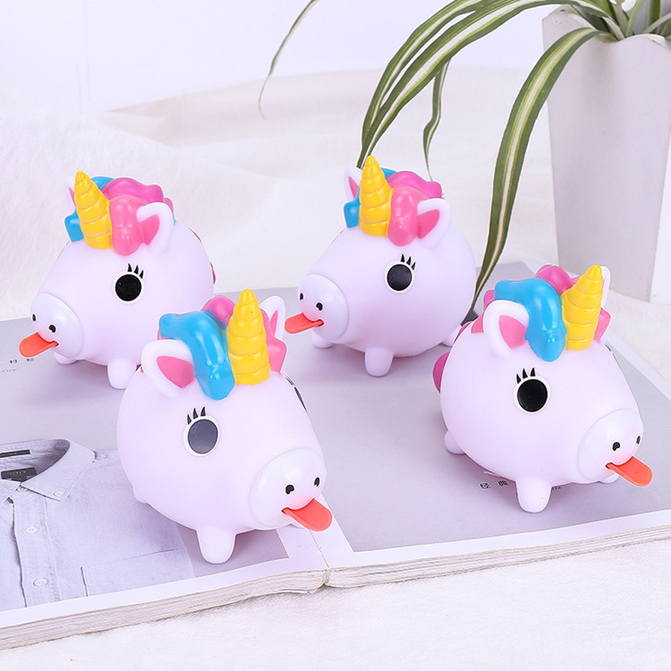 Hot Kawaii animal stress relief funny Toy Soft squeeze popping animals tongue toy