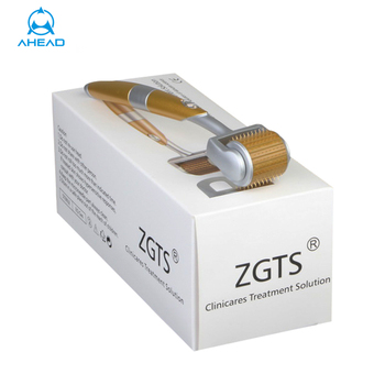 Wholesale ZGTS Derma Roller with 192 Micro Needles Dermaroller Titanium Beauty Microneedling Therapy Machine for Skin Care
