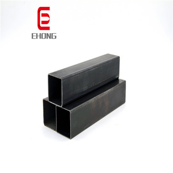 Shs rhs tube tianjin 2' x 2' ms black square tube hollow section 20*20mm mild steel square pipe sizes