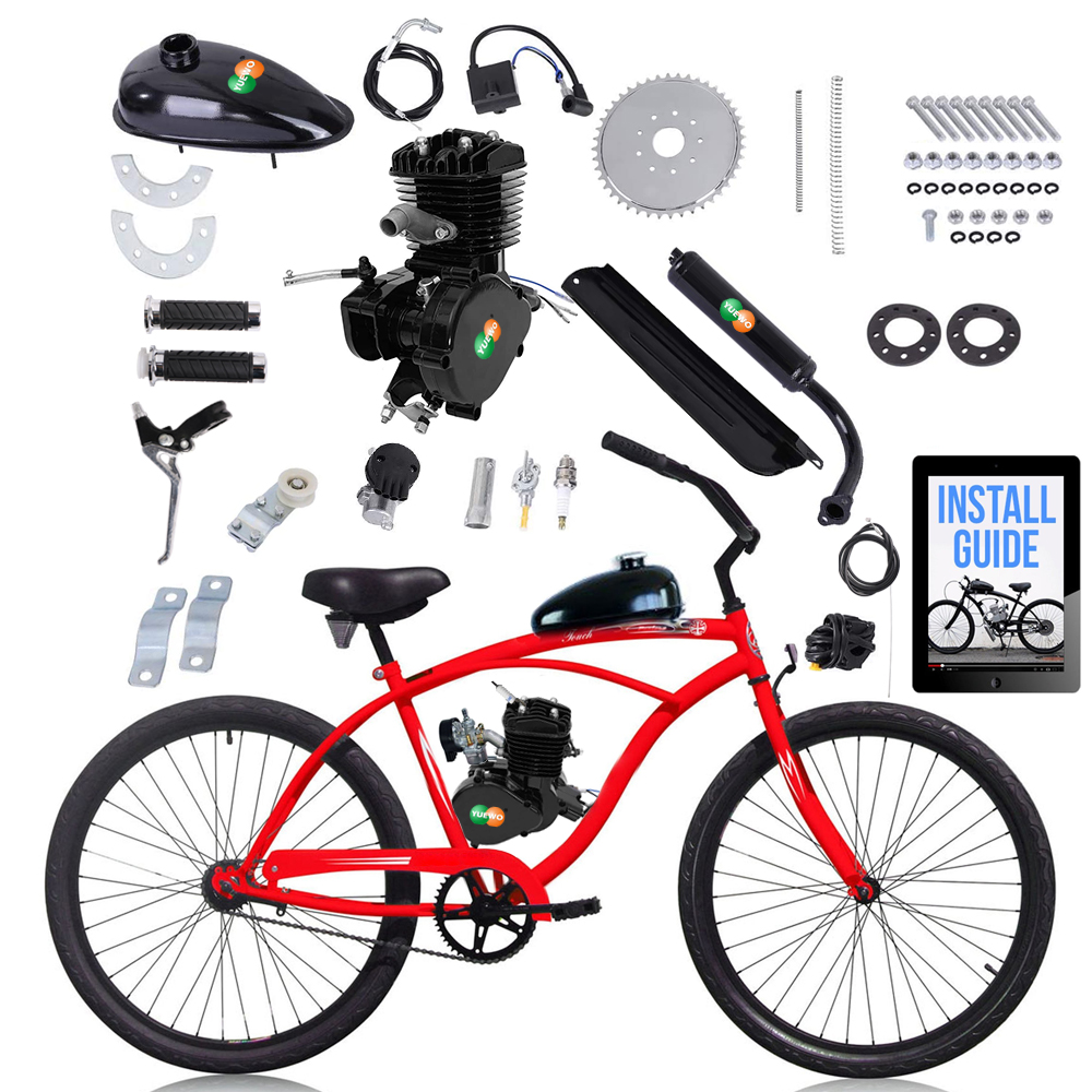 Wholesale 80cc Motorized 2-Stroke Upgrade Bike Conversion <strong>Kit</strong> DIY Petrol <strong>Gas</strong> Engine Bicycle Motor <strong>Kit</strong>