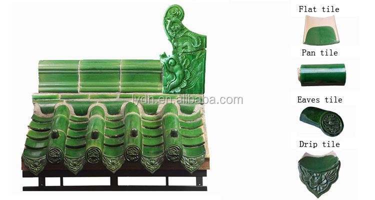 Chinese Glaze Ceramic Roof Tile 100pcs