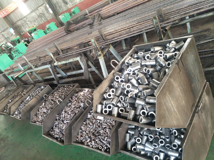 Construction material reinforcing Rebar Coupler M12-M40 Splicing Sleeve