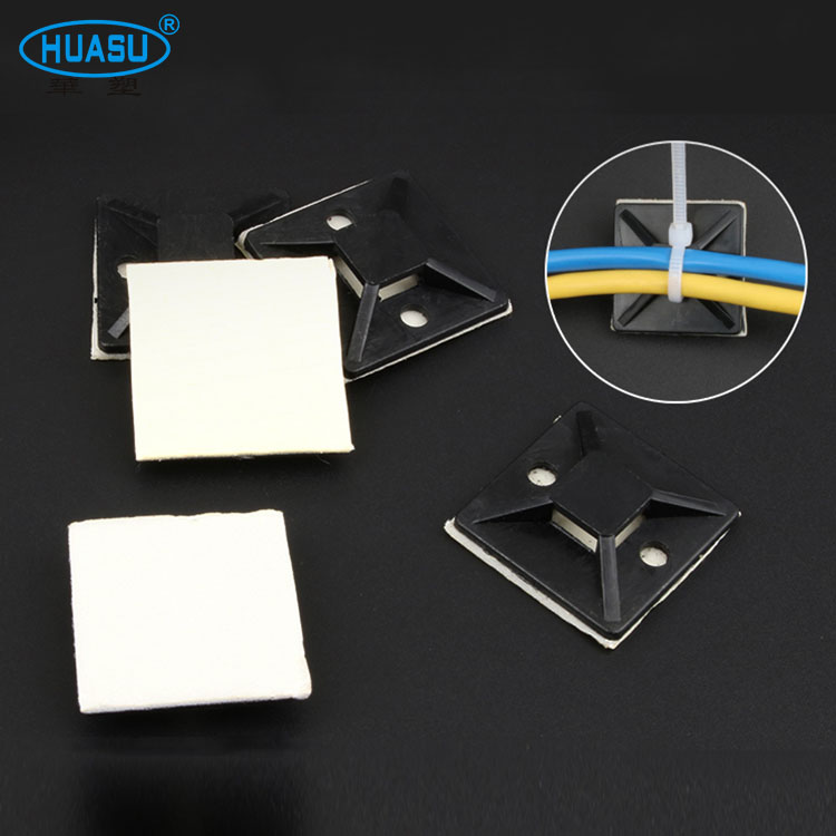 Factory Direct Sale Nylon 30*30MM Self Adhesive Cable Tie Mount