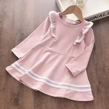 Платье для девочек Bear Leader, осеннее платье в горошек с длинными рукавами и круглым воротником, платье для девочек, новинка 2020, От 3 до 7 лет(Китай)