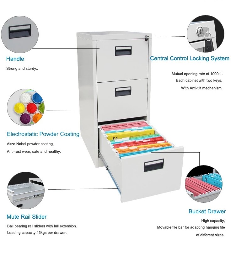 Vertical Filing Cabinets With 4 Drawer