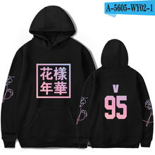 Kpop фанаты хип-хоп одежда в черном, белом, сером цвете одежда Love Yourself Bangtan мальчики Young Forever унисекс Толстовка для женщин(China)