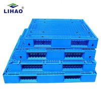 Warehouse storage stacking use blue 1500*1200*150mm hot sale plastic pallet