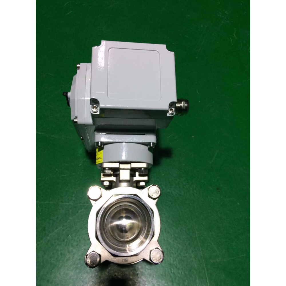 Industry electric actuator ss316 water ball valve for gas system