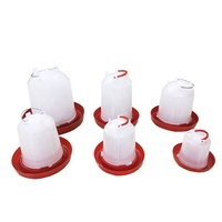Plastic Bird Drinkers Chicken Feeders And Drinkers For Chicken House Poultry Farm Equipment