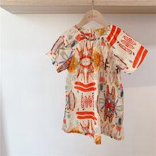 Детская одежда; Платье для девочек; Новое милое платье принцессы; Одежда для маленьких девочек; Детские Платья с цветочным принтом; Платье д...(Китай)