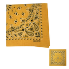 Factory OEM Gold Yellow Bandana 100% Cotton