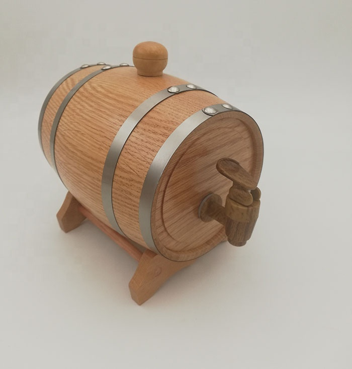 America oak 5L wood wine barrel bag inside storage liquor