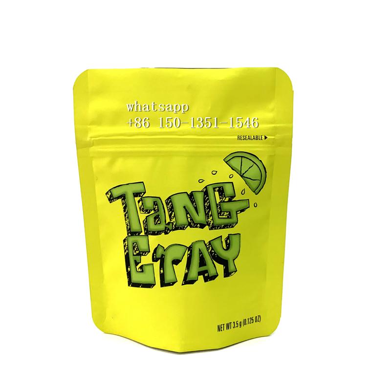 China personalizado impreso a prueba de niños galletas California 1/8 oz textura de terciopelo suave sentir suave bolsa de película