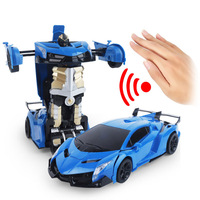 1:14 Big LED Gesture Induction RC Deformation Robot Car Transformation Remote Control Robot Car for Kids