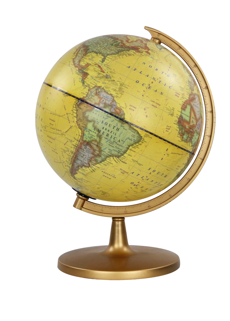 30cm Political District Plastic Ruler Globe world map decoration earth globes