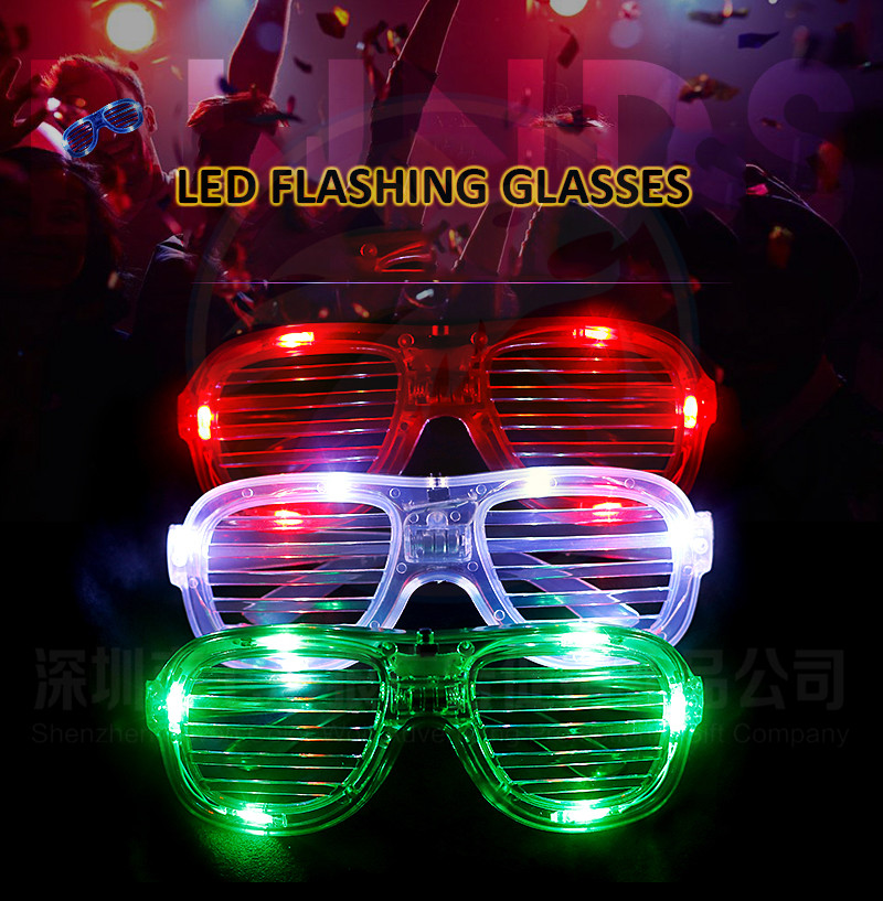 Creative Glow In The Dark Plastic Glowing Eye Party LED Glasses For Adult Night Party Favors Light up Flashing LED Glasses