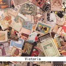 100 шт./кор. альбом для изготовления Ретро скрапбукинга и открыток «сделай сам», альбом для печати, дневные открытки с рисунком, милые бумажны...(Китай)