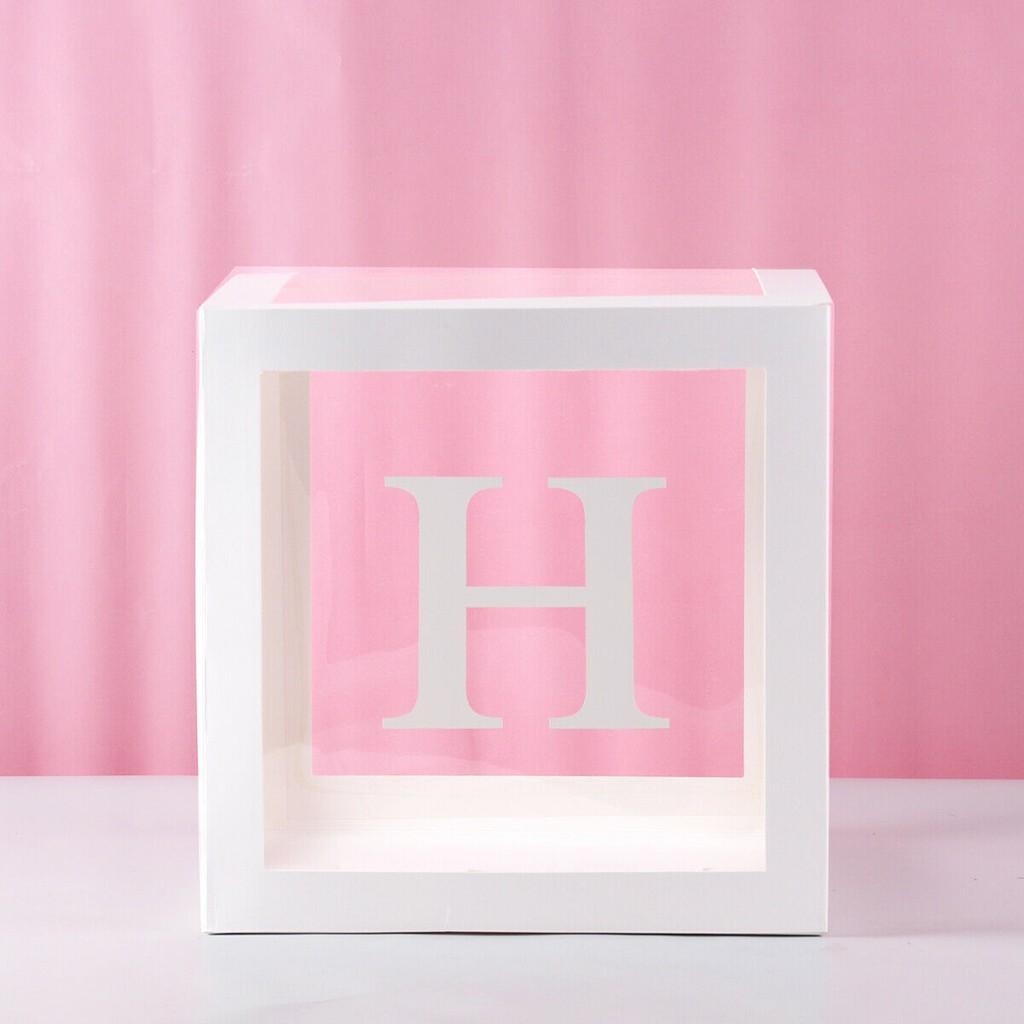 Прозрачные подарочные коробки с буквами A-Z; вечерние подарочные коробки для дня рождения; аксессуары для украшения дома; letras decorativas F113(Китай)