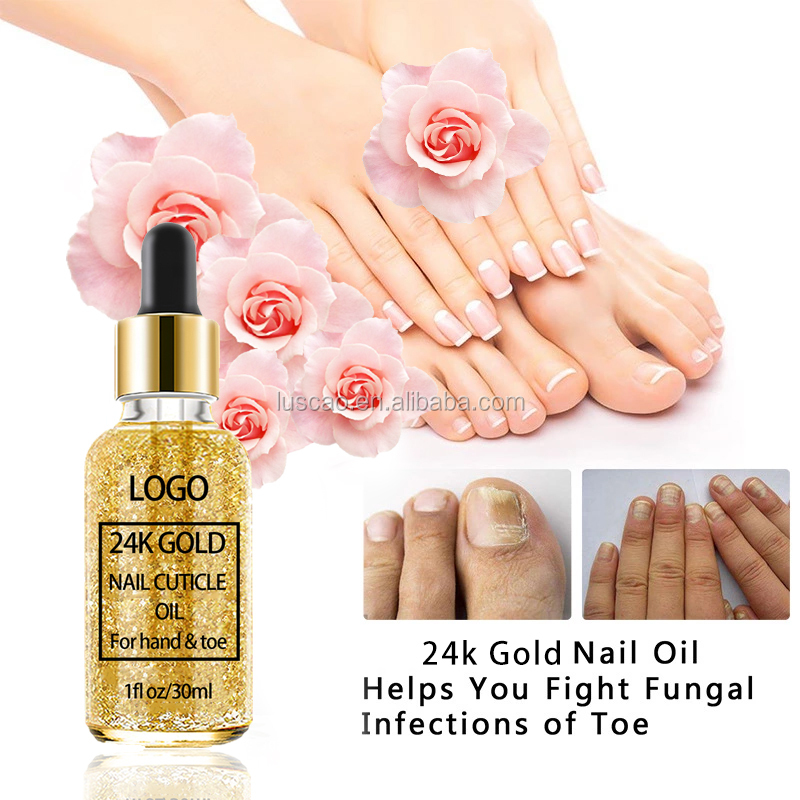 Private Label Nourishing Moisturizing Revitalizer Repair Protect Toes And Nail 24K Gold Cuticle Oil