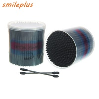 OEM accepted good quality double round head /spiral head colorful paper/ plastic stick cotton swabs