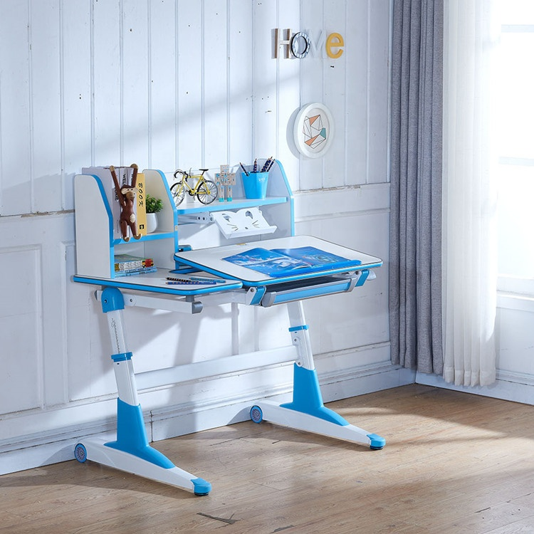 Height adjustable children study desk for kids home and school study
