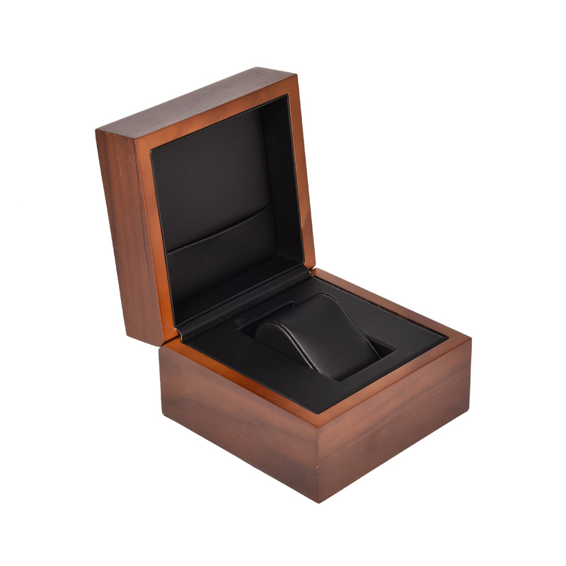 Best Elegant Custom Made Real Solid Wood Watch Box Engraved Logo