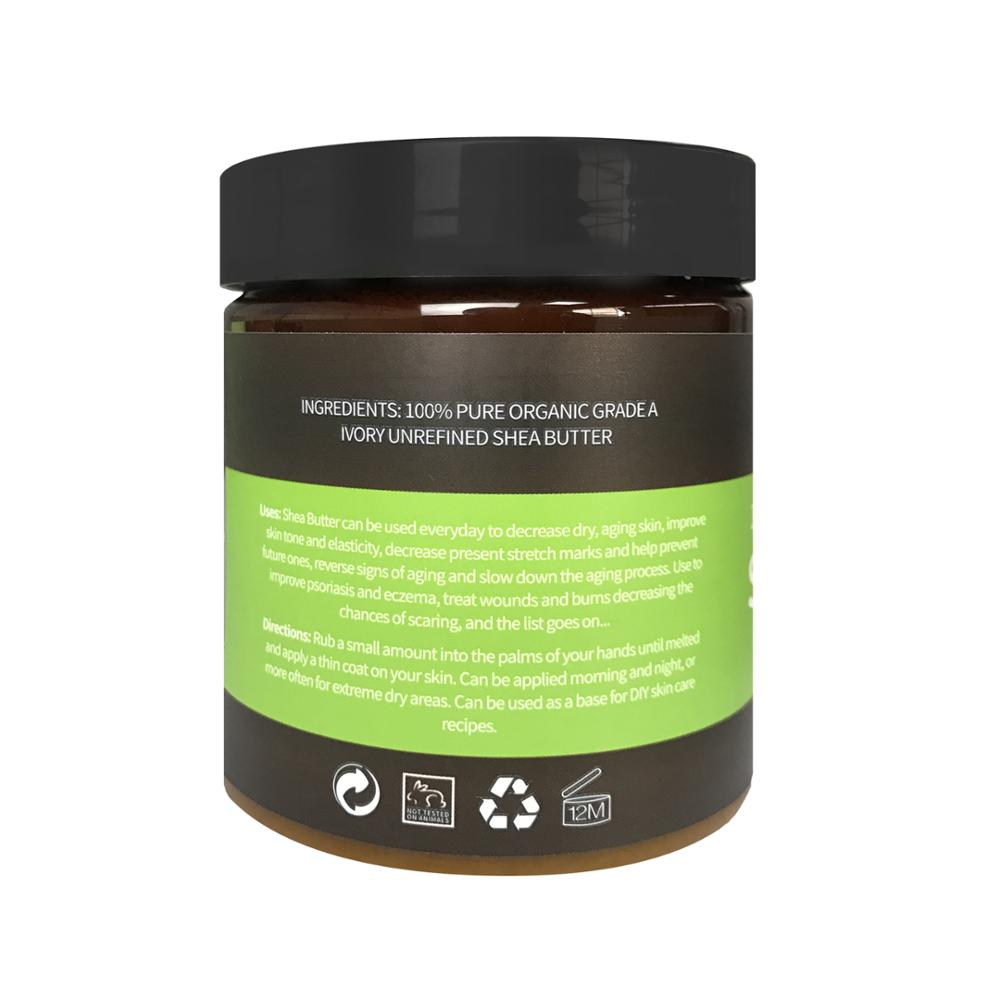 250g कार्बनिक अपरिष्कृत प्रकार का वृक्ष मक्खन थोक