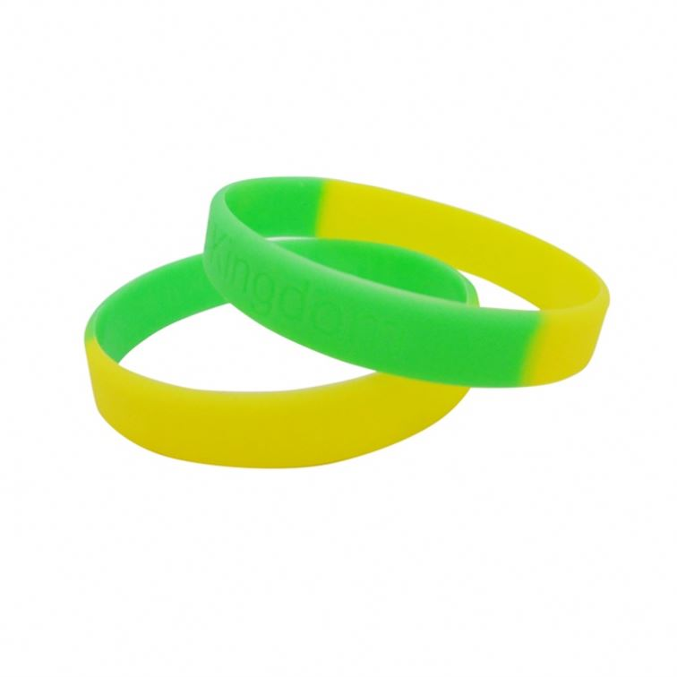 China Suppliers Customized Classical Style Office Silicone Rainbow Bracelet