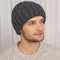 New Design Wool Fashion Unisex Fleece Lining Knitted Beanie Hats