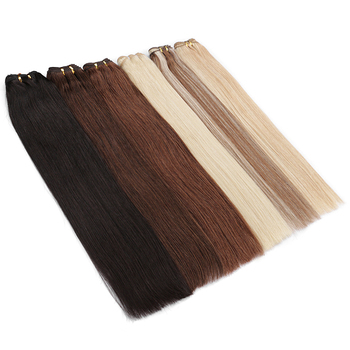 Wholesale blonde russian Hair Extensions virgin remy cuticle aligned Double Drawn human hair bundle Weft weave