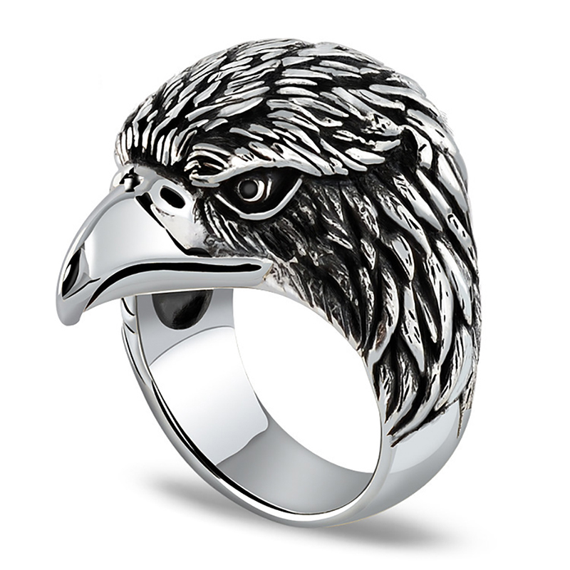 product-BEYALY-2020 Christmas Eagle Head Engagement Rings For Men-img