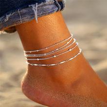 Если вы богемные бусы ножные браслеты для женщин Бохо Красочные Каменные хрустальные оболочки ножные браслеты 2020 браслет на ножные браслет...(Китай)