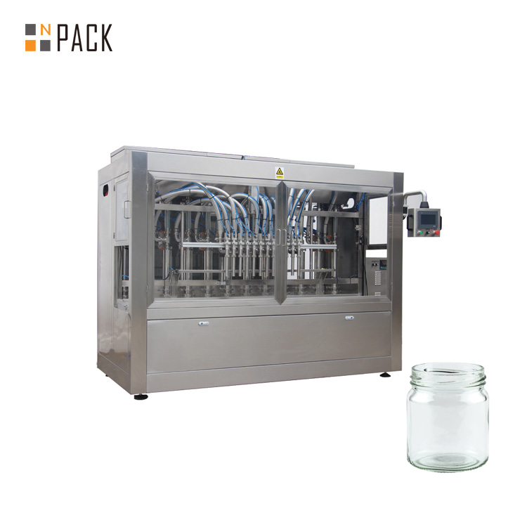 Npack Servo Motor Driven High Quality Automatic Thick Chilli Sauce Glass Bottle Filling Machine