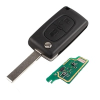 2 Buttons 433 Mhz ID46 Chip Flip Remote Smart Car Key Fob For Peugeot 207 307 308 407